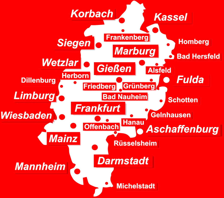 Standorte Rohrreinigung und Kanalreinigung rohrfrei24